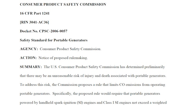 Iowa church carbon monoxide poisoning might have been stopped if this proposed regulation became law.